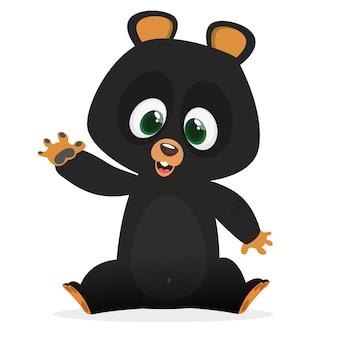 Urso engraçado dos desenhos animados