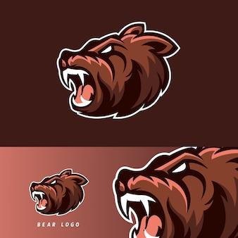 Urso esport jogo mascote emblema