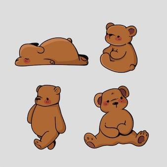 Urso fofo desenhado à mão