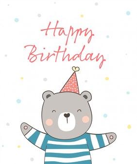 Urso fofo para aniversário.