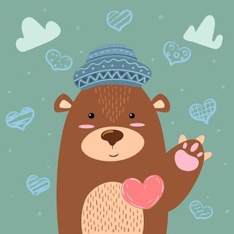 Urso - ilustração bonitinha.