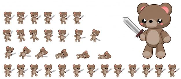 Urso jogo sprite