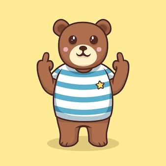 Urso mostrando o símbolo de foda-se
