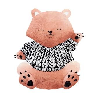 Urso na camisola.
