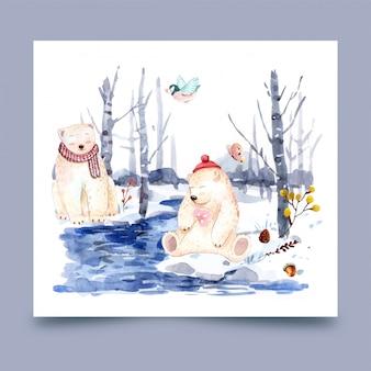 Urso no inverno