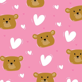 Urso padrão sem emenda