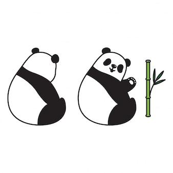 Urso panda dos desenhos animados