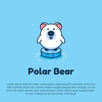 Urso polar bonito apropriado para logotipo, modelo