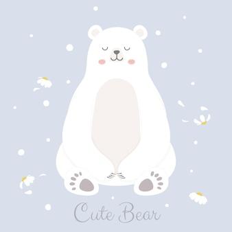 Urso polar bonito.