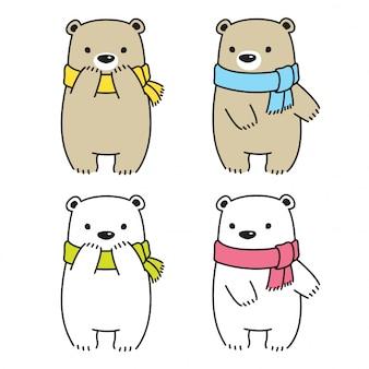 Urso polar cartoon ilustração