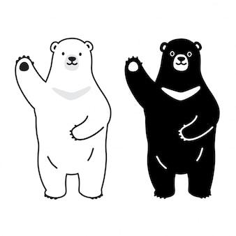 Urso polar dos desenhos animados do vetor