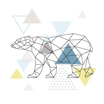 Urso polar geométrico abstrato