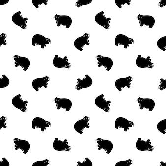 Urso polar sem costura padrão ilustração de ursinho