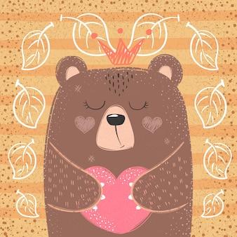 Urso princesa bonito