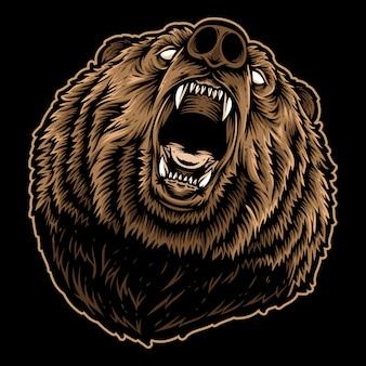 Urso rugindo