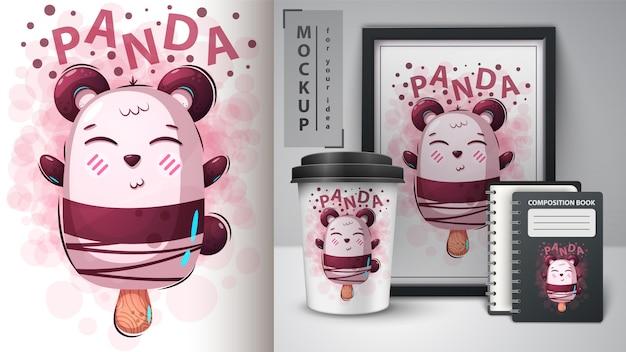 Urso, sorvete de panda