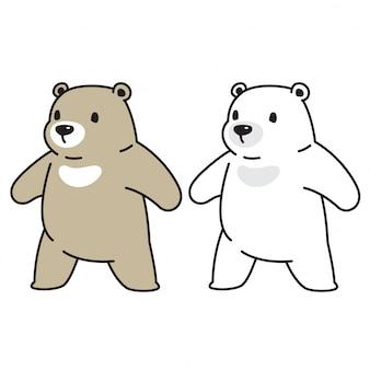 Urso urso polar personagem dos desenhos animados