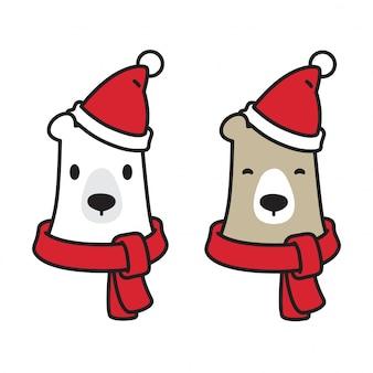 Urso vector logo do ícone do urso polar