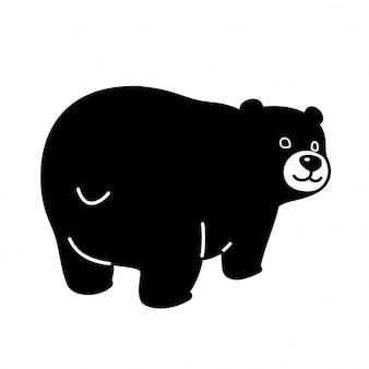 Urso vector personagem urso polar