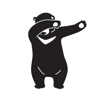 Urso vector polar dab dança