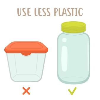 Use menos plático