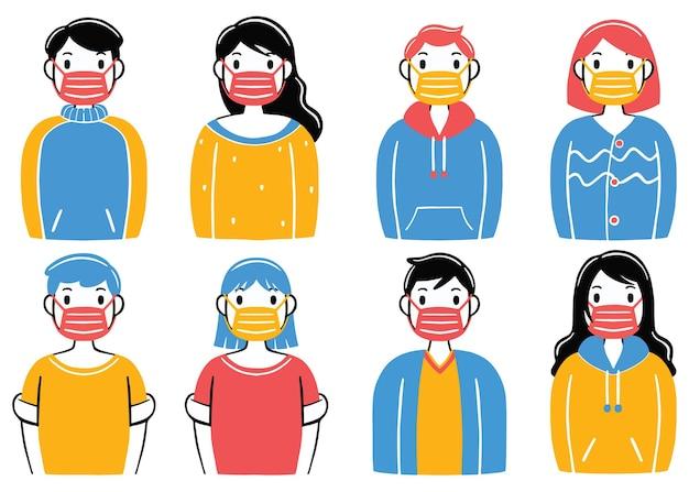 Use uma máscara em estilo de design plano