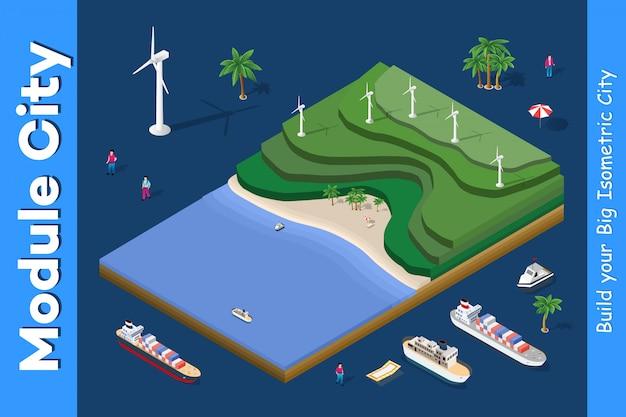 Usina de energia eólica ecológica