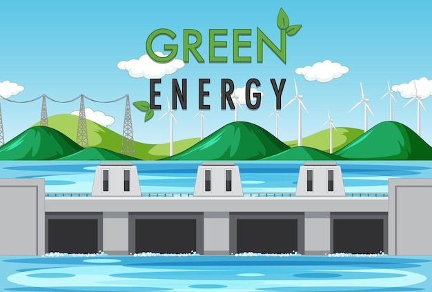 Usinas hidrelétricas geram eletricidade com bandeira verde