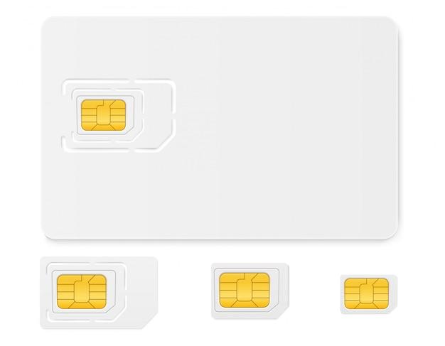 Uso de chip de cartão sim em telefones de comunicação digital