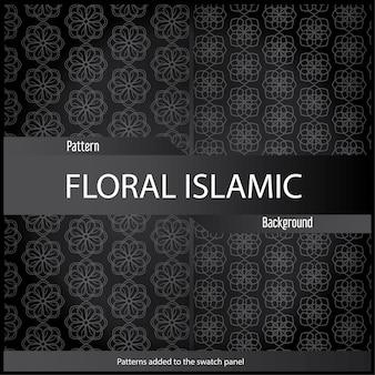 Uso de design de padrão de ornamento abstrato islâmico para impressão e design de moda com cor preta.