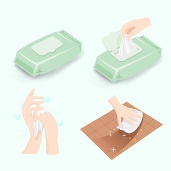 Usos e benefícios de lenços umedecidos