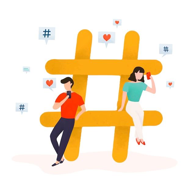 Usuários com um vetor de hashtag