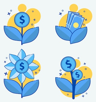Usura dinheiro, juros, ícone do vetor