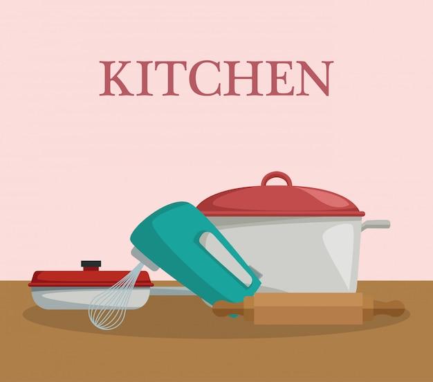 Utensílios de cozinha e conceito de comida