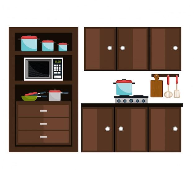 Utensílios de cozinha e louça