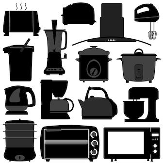 Utensílios de cozinha ferramenta de equipamentos elétricos eletrônicos.