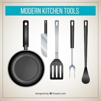 Utensílios de cozinha modernos
