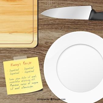 Utensílios de cozinha realistas