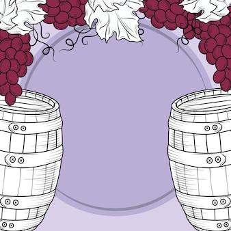 Uva de barril de vinho
