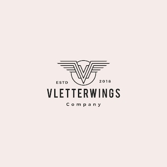 V asas logo vector brasão de armas
