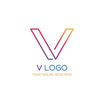 V logotipo