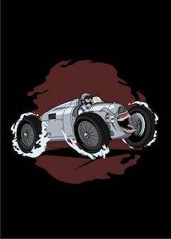 V16 monster car