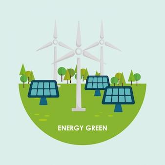 Vá design verde.