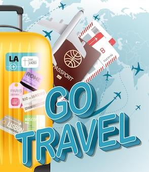 Vá o conceito de viagens.