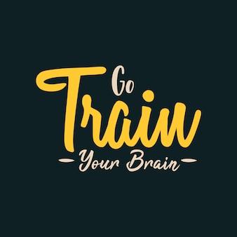Vá treinar seu cérebro
