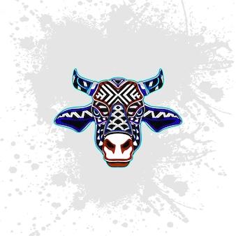 Vaca de padrão decorativo abstrato