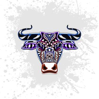 Vaca decorada com formas abstratas