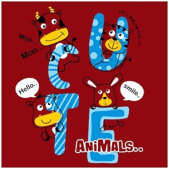 Vaca e amigos desenho animado animal