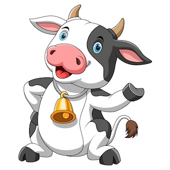 Vaca feliz dos desenhos animados
