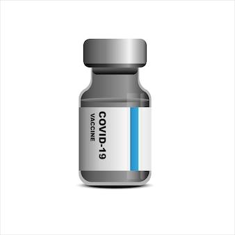 Vacina em frasco para prevenção de vírus perigoso covid19